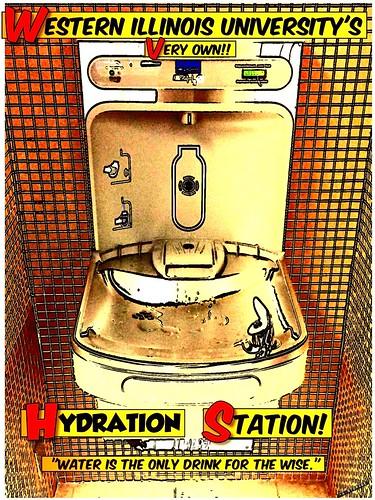 Water Bottle Refilling Station Poster