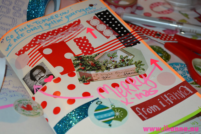 Diary Collage: while Wrapping Christmas Gifts