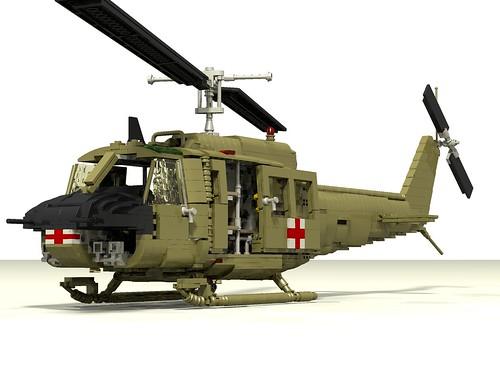 UH-1D Huey Medevac front left