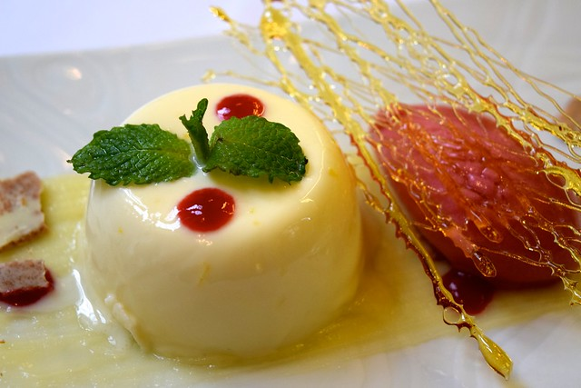Lemon Panna Cotta at Toto's, Knightsbridge