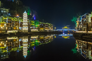 Fenghuang Ancient Town By Night - China