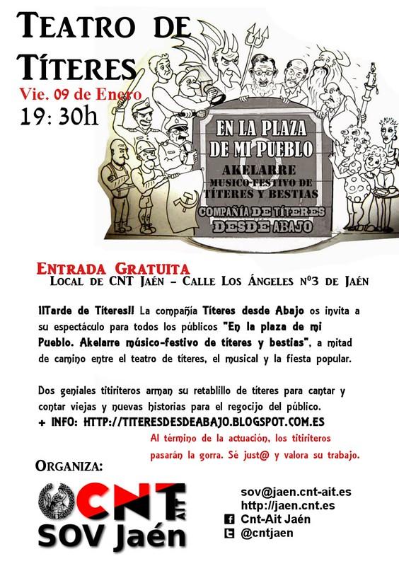 Títeres en local de CNT-Jaén