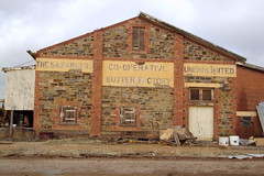 Orroroo. The old SA Farmers Union Butter Factory. Built 1921. Closed 1970s. First butter factory in Orroroo was in 1907 the Walloway Butter Factory.