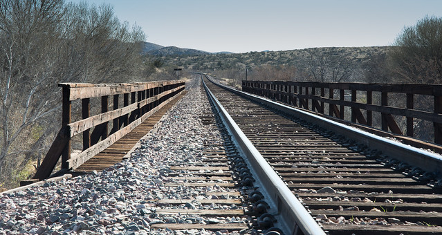 Tracks on Railroad Bridge