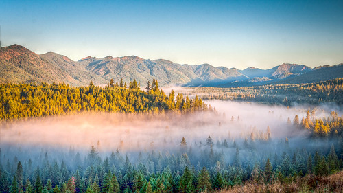 sky sun fog sunrise landscape washington unitedstates elements hdr highdynamicrange cleelum suncadiaresort
