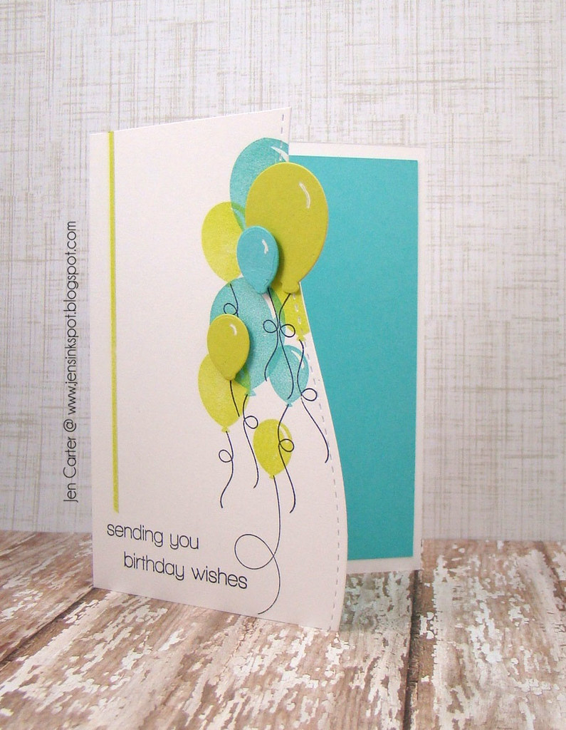 Jen Carter Whimsy Birthday Happy Everything Sweet as Candy card Open
