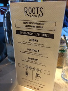 Roots Coffee @ BKK menu 1