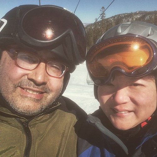 We had a blast! 23 years together, 20 years snowboarding together. #mammothmountain #mammothstories