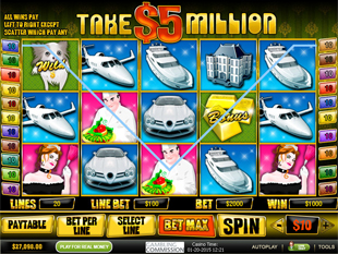 Take 5 Million Dollars slot game online review