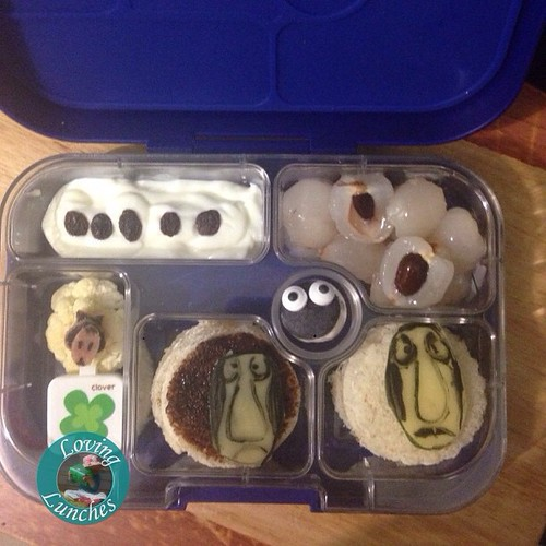 Loving my first ever #Yumbox lunch… #HowToTrainYourDragon inspired sheep themed.
