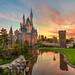 Cinderella Castle Sunset by Tom.Bricker