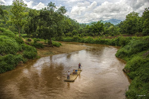 asia arboles tailandia paisaje rafting nubes campo chiangmai elefantes maerim maetaman juanjors riomaetamán