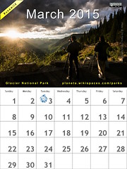 March 2015 National Parks Calendar: Glacier @GlacierNPS @NatlParkService #usawild  (attribution-sharealike license)