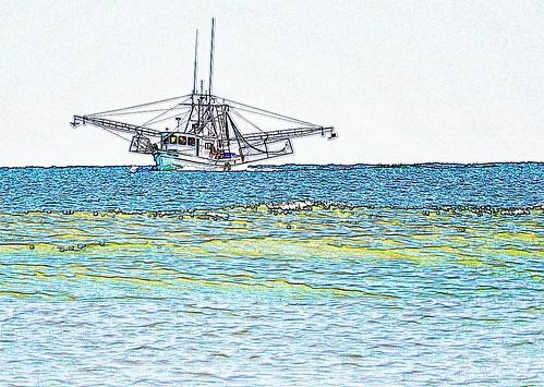 Shrimp Boat in the Bay