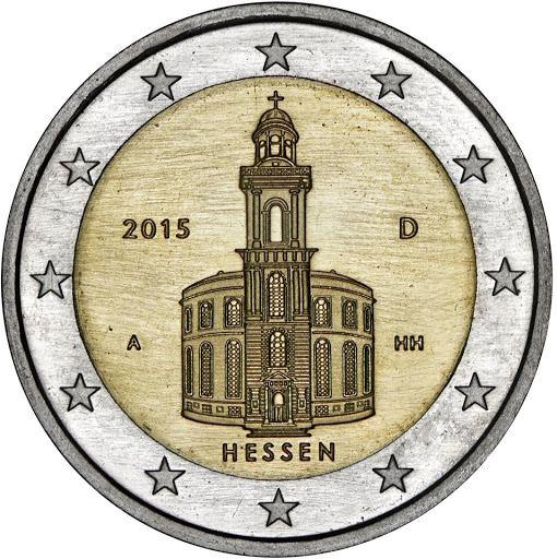 2 Euro Nemecko 2015 A, Hessensko