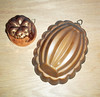 Lot of 2 Vintage Copper Gelatin Molds from Portugal - Tin Lined Copper Molds
