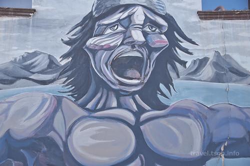 【写真】世界一周 : ウシュアイア・市街地(壁画1)