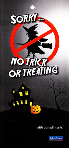 Sorry no trick or treating