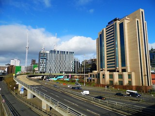 Glasgow (View of the M8 motorway & the city centre skyline,from Anderston)