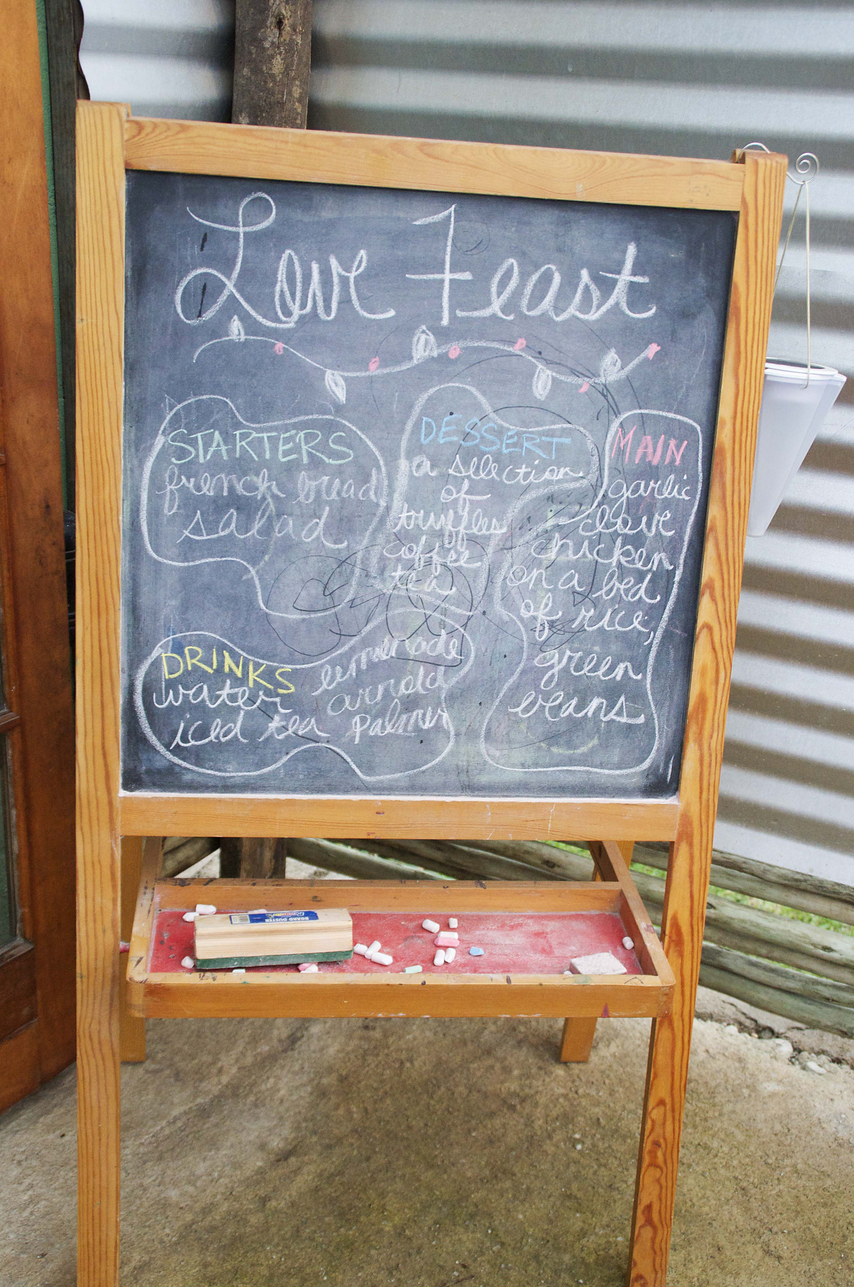 love feast menu