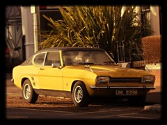 automobile, automotive exterior, executive car, vehicle, automotive design, ford capri, ford, antique car, sedan, land vehicle, coupã©, sports car,