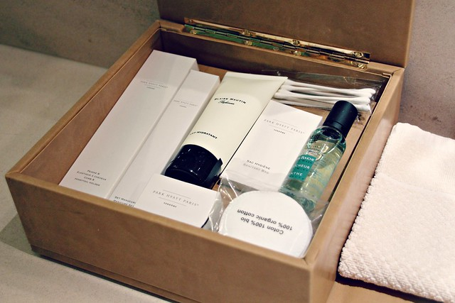 Park Hyatt Paris Vendome amenity kit