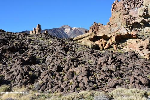 Lavas en Las Cañadas del Teide.
