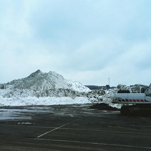 Good Harbor Beach parking lot - 1 of 2 mounds at least 3 stories high.  Will there still be remnants on Memorial Day?