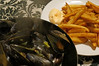 PEI mussels (Moules frites) fries from organic potatoes