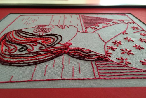 Detail from Redwork Mami