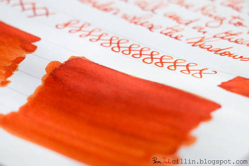 Diamine Pumpkin shading