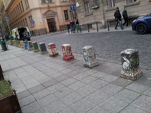Painted Bollards