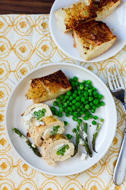 Asparagus and Goat Cheese-Stuffed Chicken