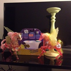 Our #goodwill #finds of the day! #she-ra #horses, #insideout control counsel and a #candle#holder