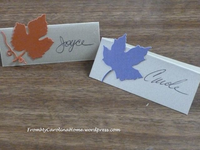 Thanksgiving 2014 - placecards