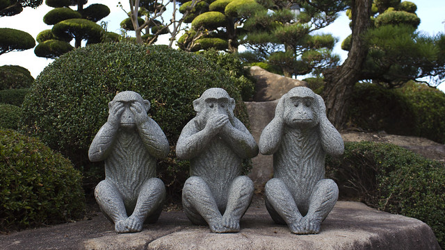See no evil speak no evil hear no evil