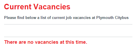 Current Vacancies   Plymouth Citybus