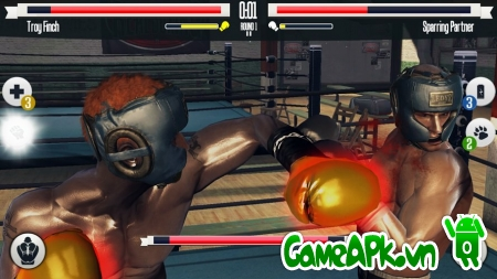 Real Boxing v1.9.5 hack full vàng cho Android