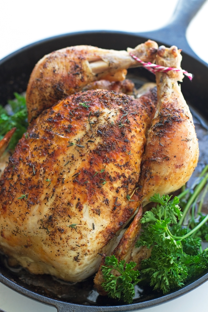 How to cook a whole chicken in cast iron dutch oven