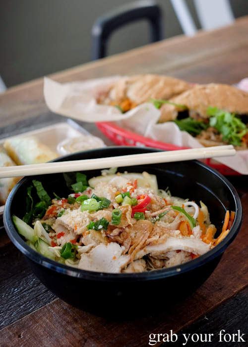 Grilled lemongrass chicken fillet salad at Great Aunty Three, Surry Hills