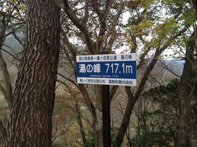 鎌ヶ岳 馬の背尾根 湯の峰
