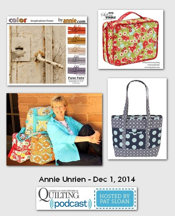 American Patchwork and Quilting Pocast Annie Unrien Dec 2014