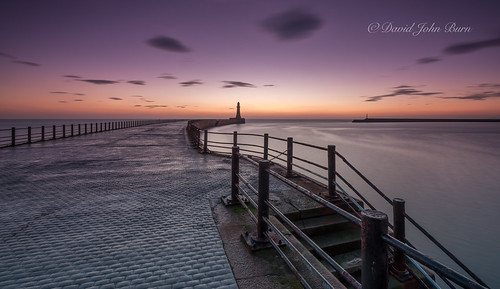 lighthouse seascape sunrise dawn coast pier sunderland roker