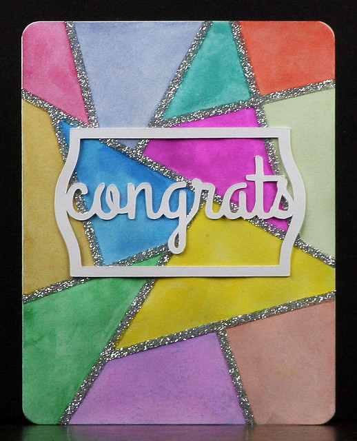 Watercolor Stained Glass Effect Card | shirley shirley bo birley Blog