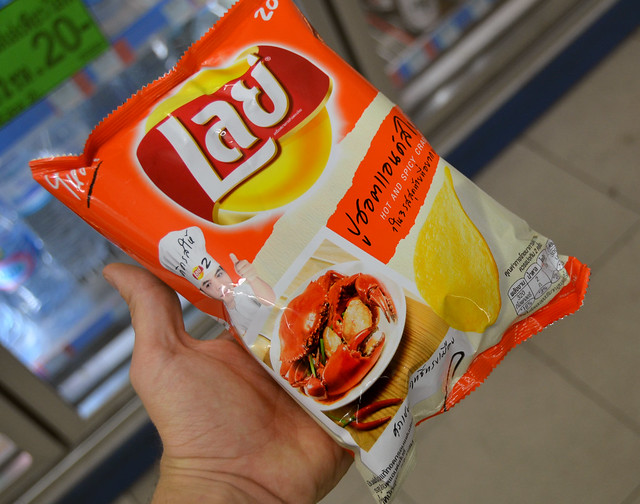 Patatas Lays sabor cangrejo en Bangkok
