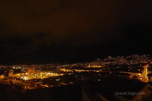 【写真】世界一周 : クスコ・市街地(2日目-夜、全景)