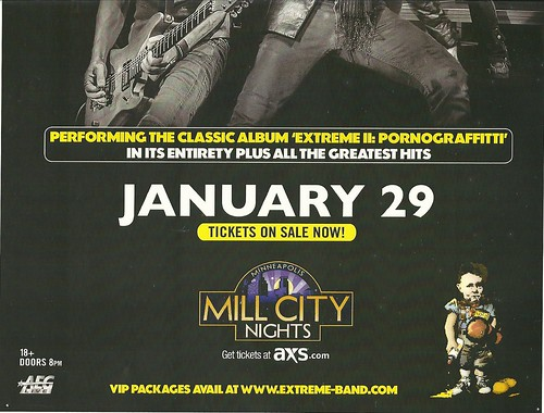 01/29/15 Extreme @ Mill City Nights, Minneapolis, MN (Bottom ad)