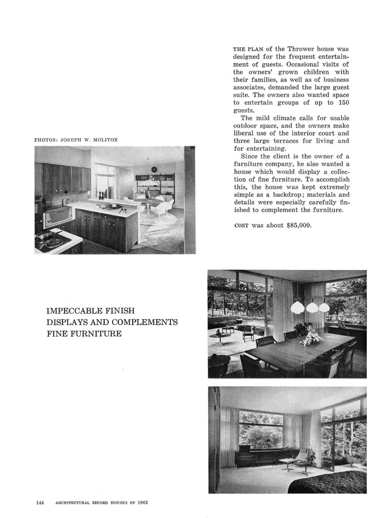 Thrower Residence, Sedgefield, NC, 1962 (Page 5 of 6)