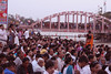 People awaiting the commencement of the Ganga Aarti at Haridwar