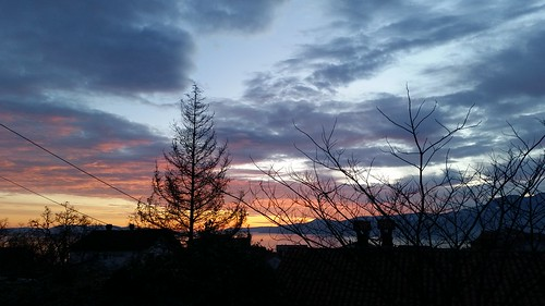 winter sunset sky clouds colorful croatia rijeka